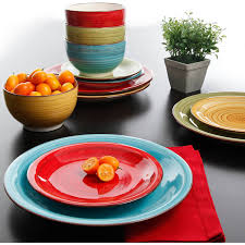Dining Room Plate Sets by Amazon Com Better Homes And Gardens Festival 12 Piece Dinnerware