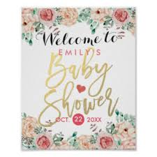 baby shower posters exquisite decoration baby shower signs vibrant creative posters