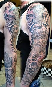 tattoo viking sleeve in progress by gettattoo on deviantart
