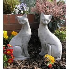 sleeping cat garden ornament ct1 17 09 garden4less uk