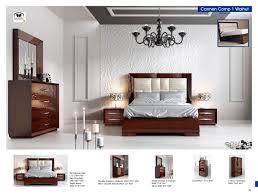 Bedroom Furniture Sets King Size Bed by Carmen Walnut Modern Bedrooms Bedroom Furniture