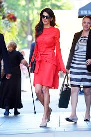 amal clooney u0027s red dress is the definition of power hellogiggles