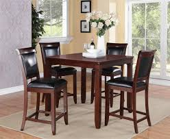 Dining Room Chairs Dallas by Dallas Black Brown Cherry Pvc Wood Counter Height Table W 4 Chairs