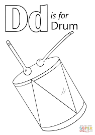 letter d is for drum coloring page free printable coloring pages