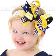 beautiful bows boutique buy navy blue and yellow school the top hair
