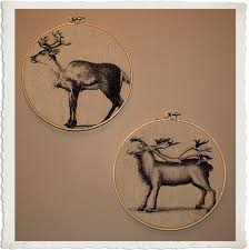 crafty project christmas fabric art awesome reindeer printable