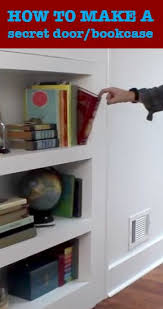 how to make a secret door bookcase small office design
