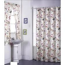 matching bathroom shower and window curtains dragon fly