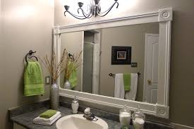 bathroom mirror frame ideas bathroom mirror frame this may be a great way to cover the