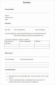 pdf resume templates resume format blank blank resume template pdf blank