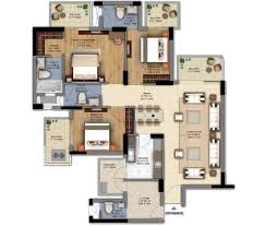 dlf the ultima floor plans 3 bhk s room