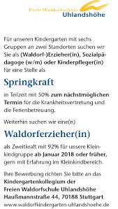K He Suchen Erziehungskunst U2013 Waldorfpädagogik Heute Vacancies
