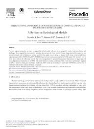 a review on hydrological models pdf download available