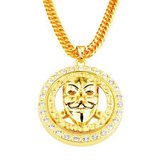 mens necklace pendant images Alloy mens necklaces round v for vendetta mask pendant necklace jpg