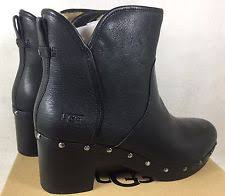 womens black boots australia ugg australia ii s leather lined platform ankle black