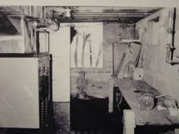 the basement of the clutter home photographed on the day of the