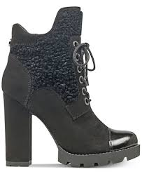 guess boots womens guess s roxey lace up lug booties boots shoes macy s