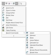 solidworks repeat last command is achieved by pressing the enter key