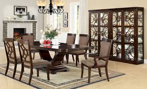 furniture of america baldy ridge 7 piece walnut dining set