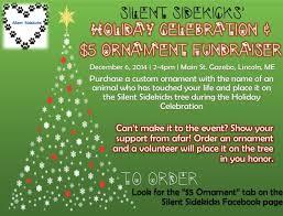 silent sidekicks holds ornament fundraiser user