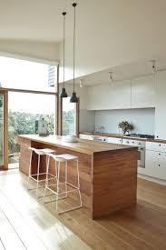 best ideas about modern kitchen furniture pinterest sleek and modern kitchen with clean lines wood island minimal furniture