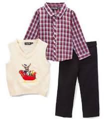 Boys ONLY KIDS Christmas outfit 24M 2T NWT plaid dress shirt knit
