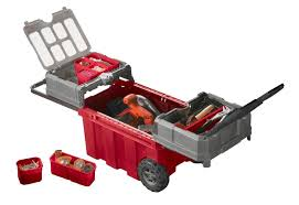 Tool Cabinet With Wheels Rolling Tool Box With Drawers Wheels Plastic Portable Organizer