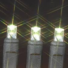 wide angle warm white 100 bulb led christmas lights sets on black wire