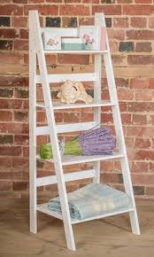 ladder book shelf 4 tier bookcase stand free standing shelves