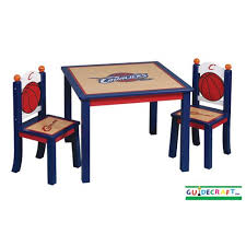 guidecraft childrens table and chairs table set furnitures guidecraft cleveland cavaliers kids table and
