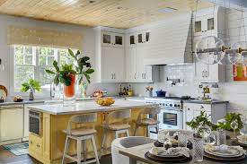 Yellow Kitchens With White Cabinets - fabulous farmhouse kitchen white cabinets with recessed lighting