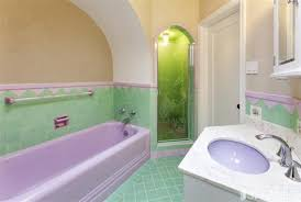 how can i make this purple u0026 green bathroom more tolerable