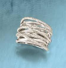highway wedding band multi row diamond ring white gold diamond and ring