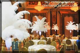 Ostrich Feather Centerpieces Tall Ostrich Feather Centerpieces With Led Light The Ultimate