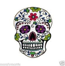 day of the dead sugar skull iron on t shirt transfer a5