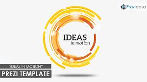ideas in motion prezi template prezibase
