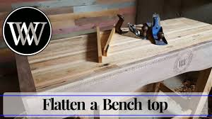Woodworking Bench Top by How To Flatten A Bench Top With Hand Planes Hand Tool