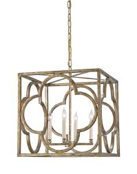 Currey Lighting Fixtures Currey And Company 9360 Cosette Four Light Lantern Peppercorn