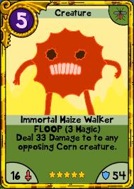 wars cards immortal maize walker card wars wiki fandom powered by wikia