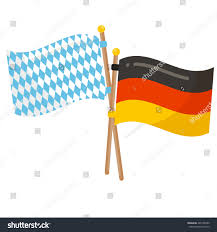 White Blue Orange Flag Germany Bavaria Flags Icon Oktoberfest Flags Stock Illustration