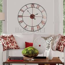 home design 93 amazing large metal wall clocks