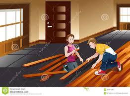 Installing Hardwood Floor Vector Hardwood Floor Stock Photos Image 37041263