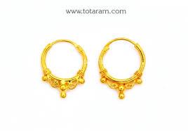 baby hoop earrings gold baby hoop earrings ear bali in 22k gold 235 ger7127 in