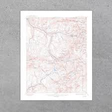 Telluride Colorado Map by Telluride Co 1922 Usgs Map