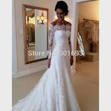 Off The Shoulder Wedding Dresses Download Off The Shoulder Wedding Dress With Lace Sleeves