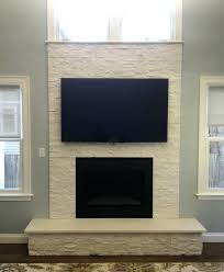 fireplace veneered cultured stone aspen country natural hearth