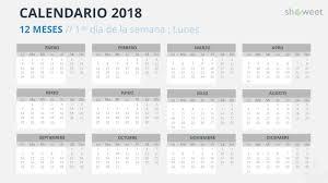 Calendario Diciembre 2018 Calendario 2018 Para Powerpoint Español
