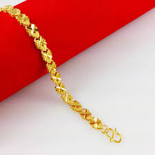 golden girl necklace images New arrival fashion 24k gp gold color fine jewelry bracelet yellow jpg