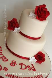 ruby wedding cakes anniversary cake designs by dianne
