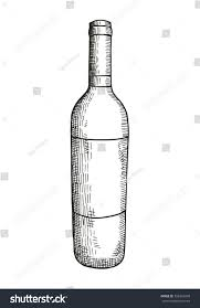 wine vector sketch bottle wine vector illustration stock vector 558304378